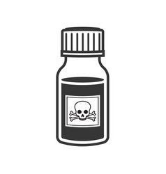 poison bottle icon on white background vector image