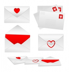 romantic envelopes vector image