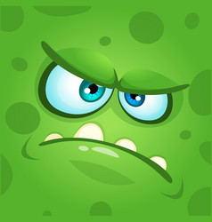 Scary cartoon monster face avatar vector