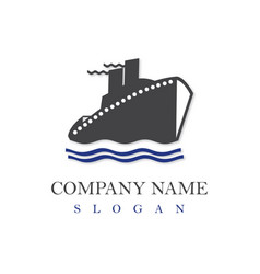 ship logo vector image