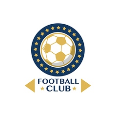 Soccer Football Badge circle vector image