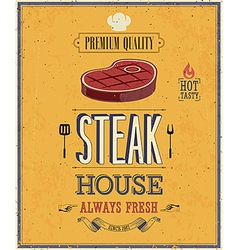Steak house2 vector