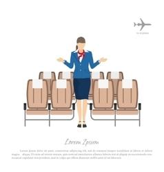 Stewardess transplants passengers in airplane vector