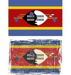 Swaziland grunge flag vector image