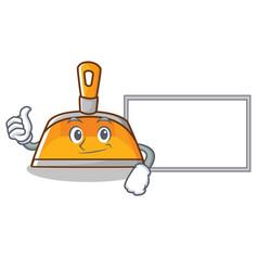thumbs up with board dustpan character cartoon vector image