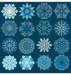 Decorative Snowflakes Set vector image vector image