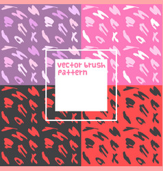 Doodle brush pattern background set vector