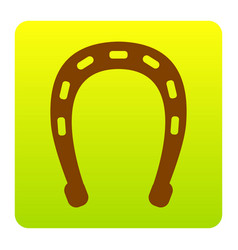 horseshoe sign brown icon at vector image