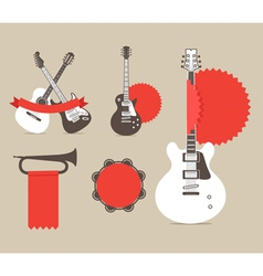 Music instrumrnts icons vector image