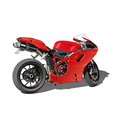 red super sports motorbike vector image vector image