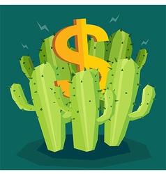 Cactus Money vector image
