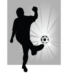 football player symbol vector image