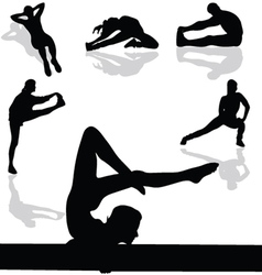 sports and gymnastic exercises vector image