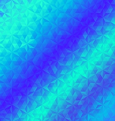 Abstract geometric triangle blue background vector image