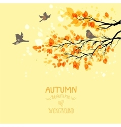 Branches with autumn leaves vector image vector image