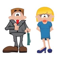 Cartoon people vector image vector image