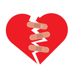 heart broken icon vector image