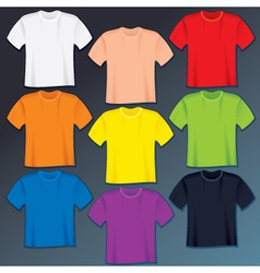 Blank t-shirts templates vector image vector image