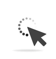 computer mouse click cursor gray arrow icon vector image