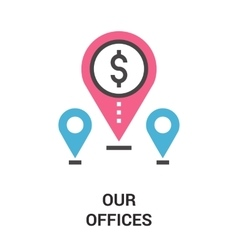 Our offices icon concept vector