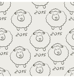 Seamless sheep sketch vector image