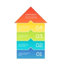 Up arrow infographic vector image vector image