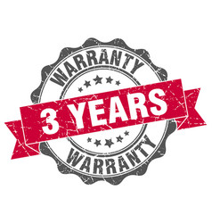3 years warranty stamp sign seal vector image