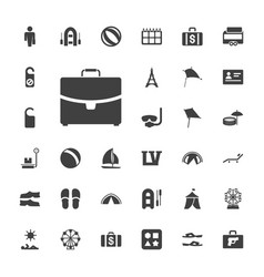 33 vacation icons vector