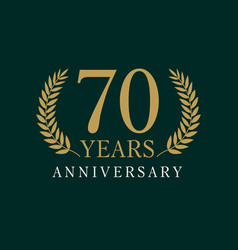 70 anniversary royal logo vector