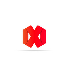 Abstract geometric letter x logo template with vector