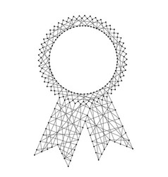 abstract seal certificate award with ribbons from vector image
