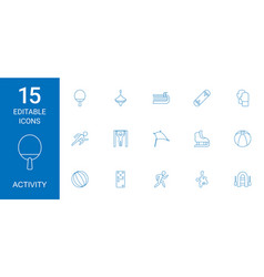 activity icons vector image