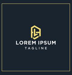 Al or la monogram logo vector
