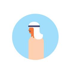 arabic man profile avatar icon arab businessman vector image