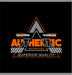 Authentic superior quality registered trademark vector