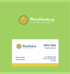 Bacteria on plate logo design with business card vector