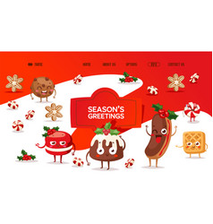 bakery website christmas campaign traditional vector image