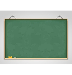 Big Horizontal Green Blackboard vector image