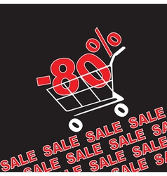 Big sale 80 percentage discount vector