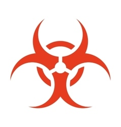 biohazard symbol isolated icon vector image