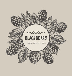Blackberry raspberry design template vector