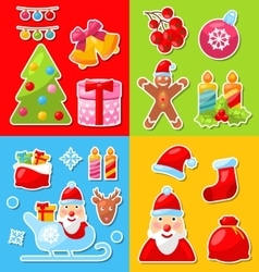 Christmas and Winter Celebration Traditional vector image