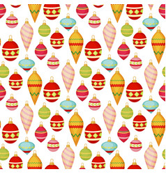 christmas ball seamless pattern colourful winter vector image
