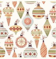 christmas tree decoration pattern vector image