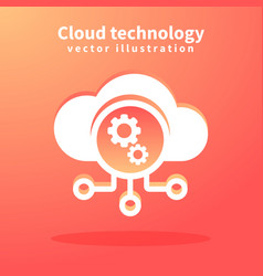 cloud icon for web design vector image