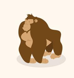 cute gorilla character vector image