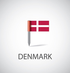 denmark flag pin vector image