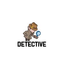 detective sheriff logo vector image