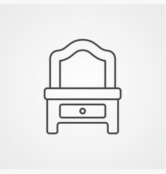 dressing table icon sign symbol vector image