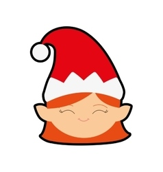 Elf cartoon merry christmas icon graphic vector